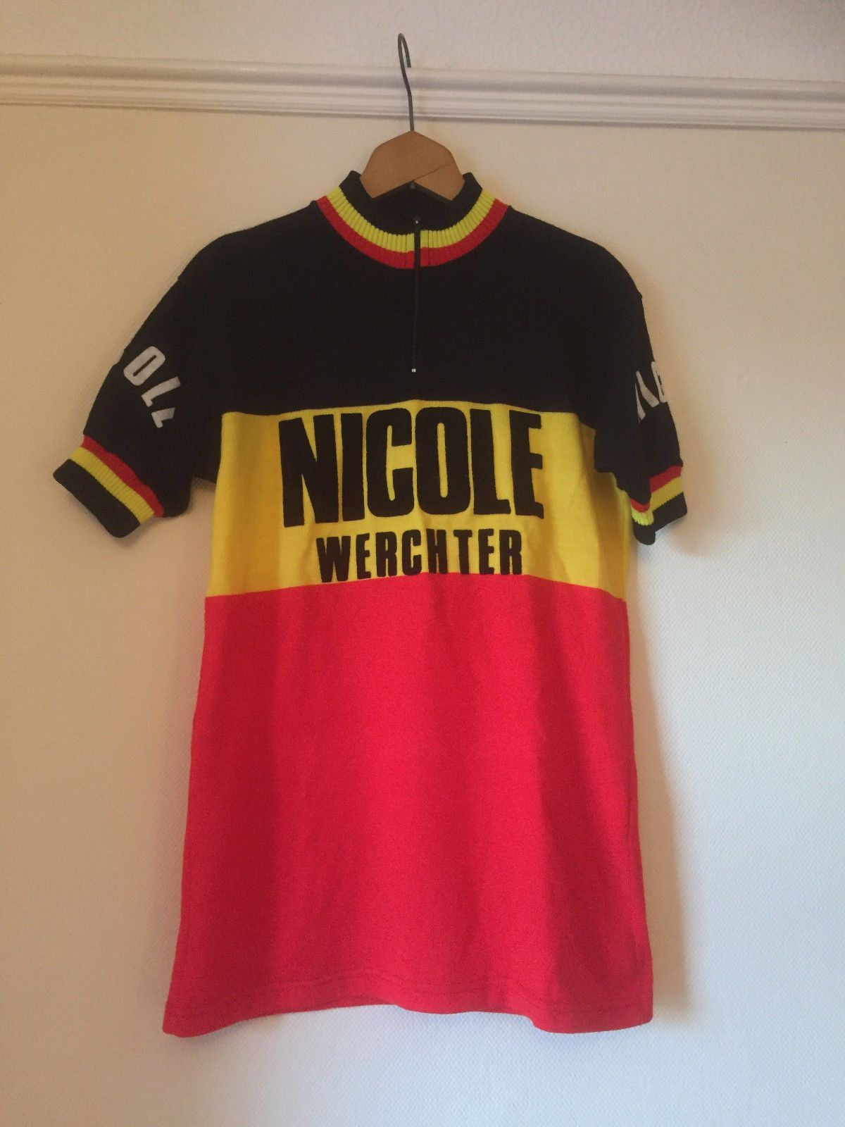 Vintage Nicole Werchter Cycling Jersey Acrylic 1980s Size 3 Lys Yarns Belgium Ebay Cycling Jersey Cycling Outfit Road Bike Vintage