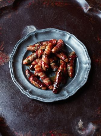 Pigs in blankets via Jamie's Ultimate Christmas