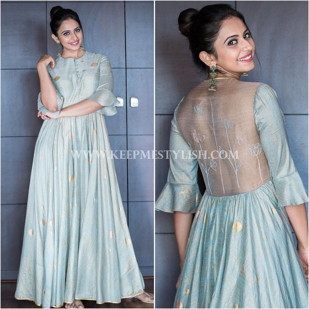 Hairstyle for floor length anarkali and indian maxi dress