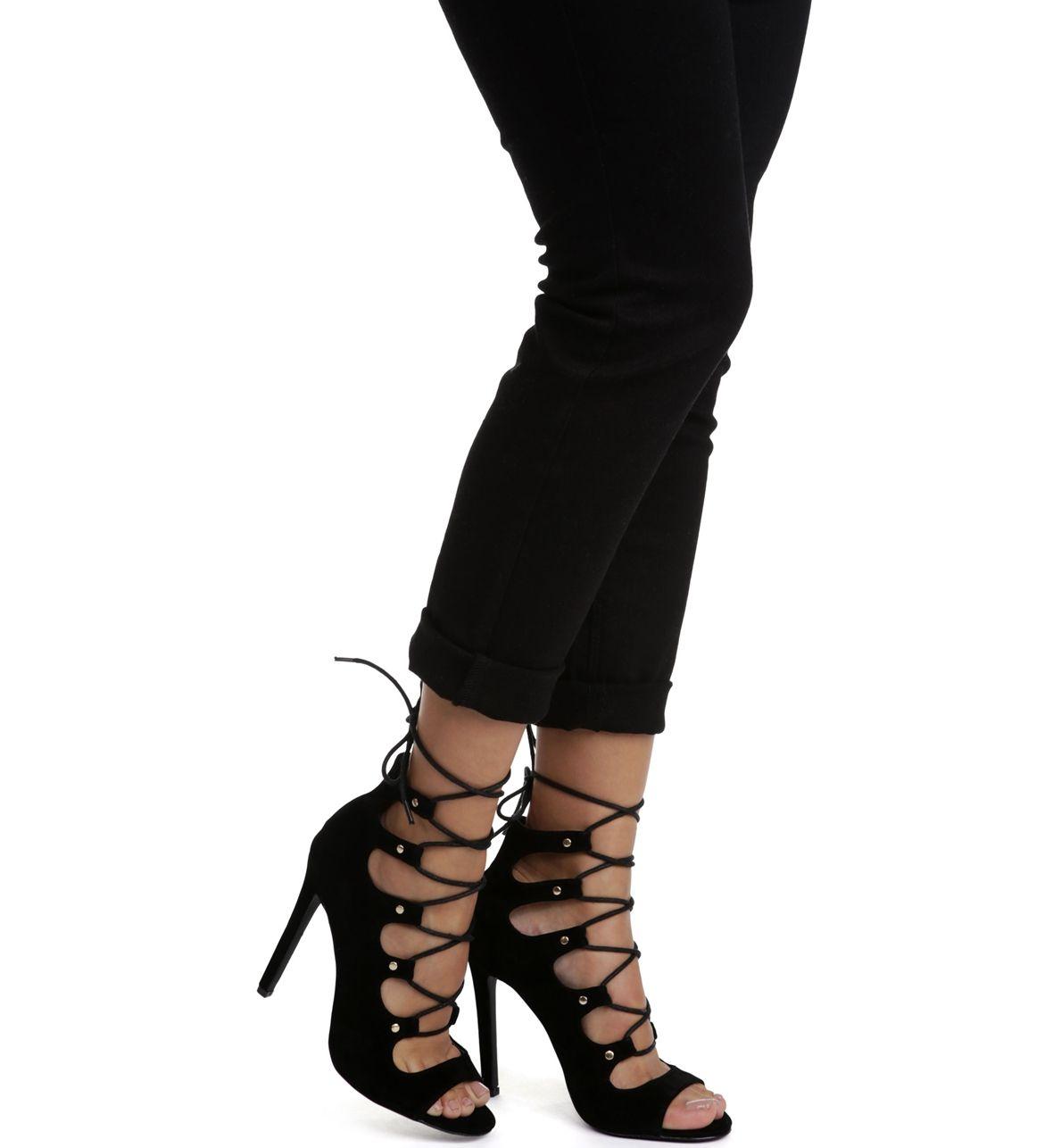 Black Miss Gladiator Stiletto Heel