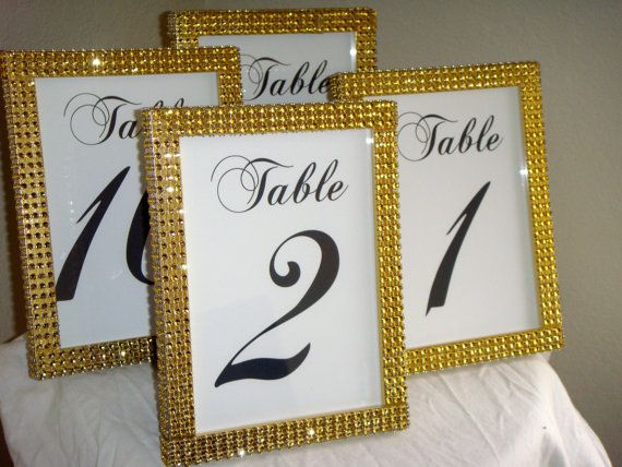 Set of 10 Gold Rhinestone 5x7 Photo Frames Wedding or by ModMV ...