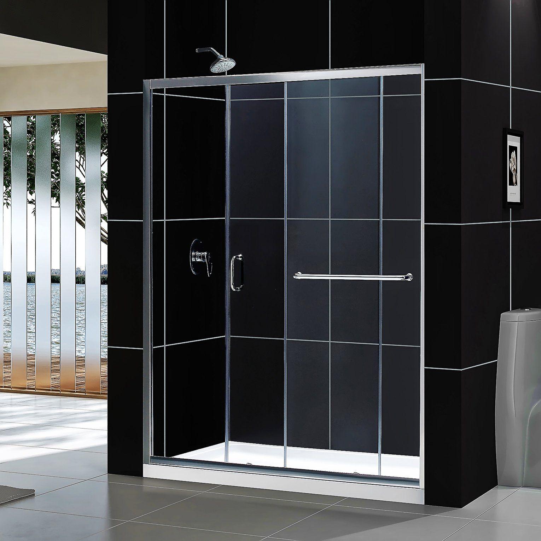 Dreamline Infinity Z 56 60 In Width Frameless Sliding Shower Door