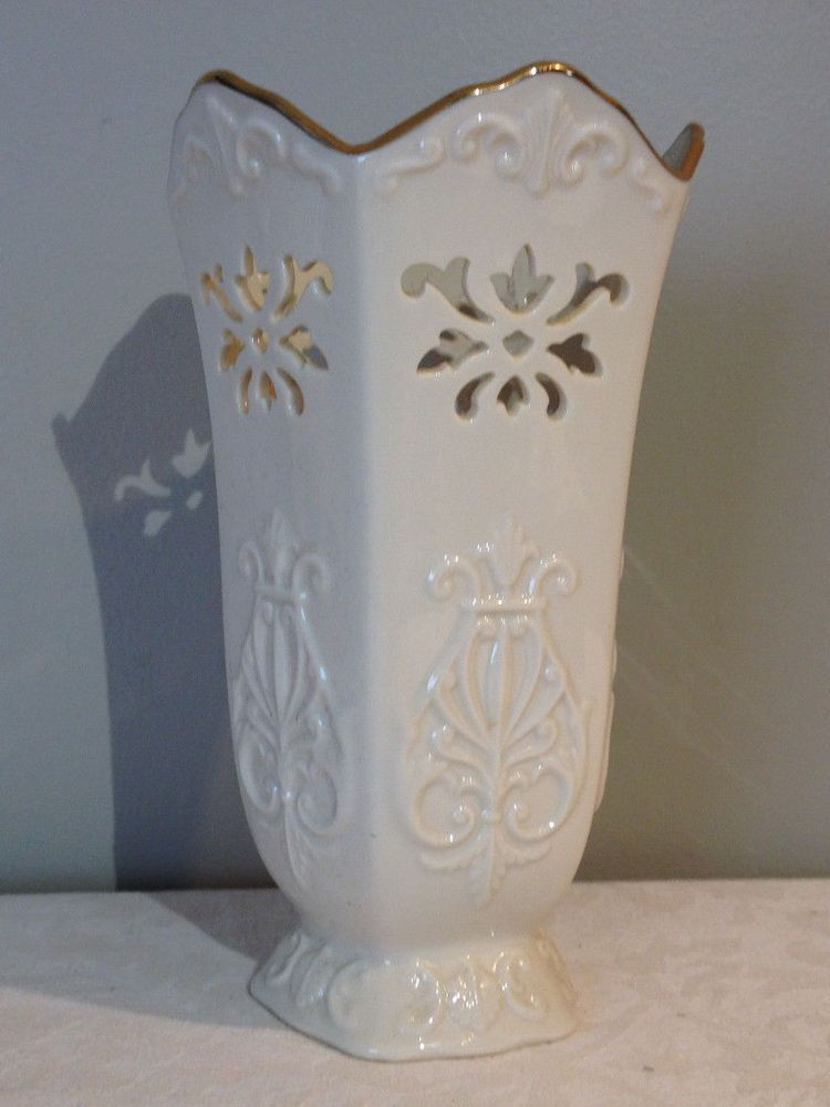 Lenox Vase With Gold Trim China Votava Ebay Pinterest Lenox
