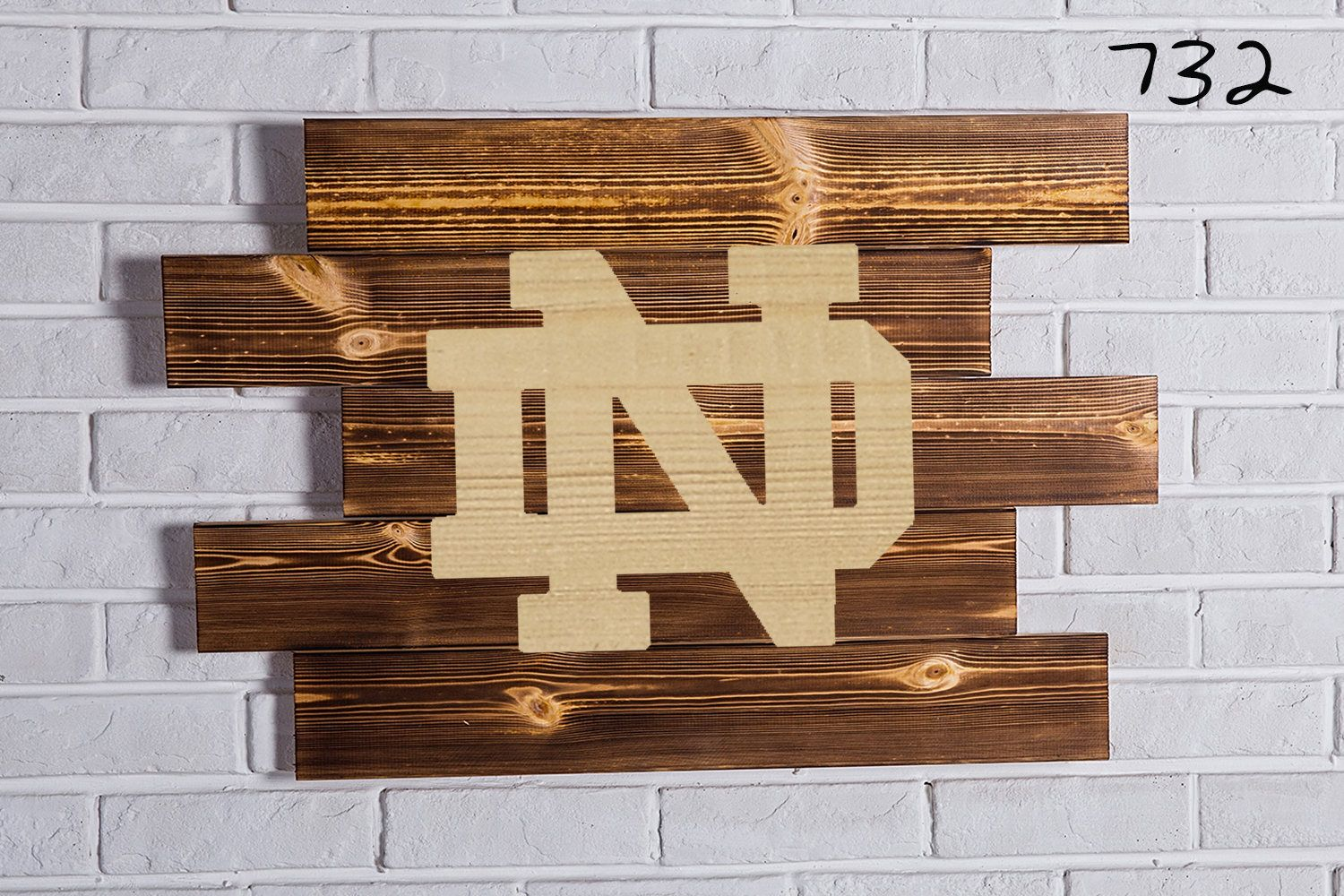 Notre Dame Fighting Irish Wood Sign Notre Dame Fighting Irish Wall ...