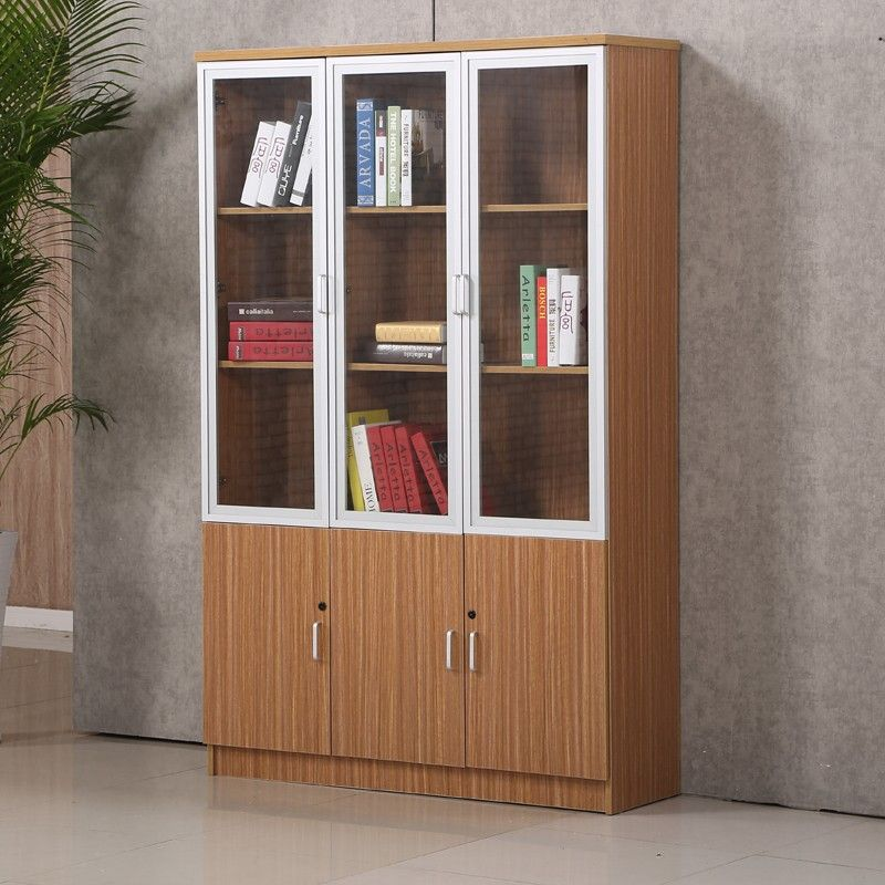 excellent quality office book self furniture wooden office bookcase modern glass door cabinet