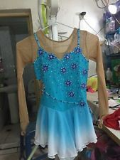 ice skating dress for girls blue hot sale figure skating clothing competiton