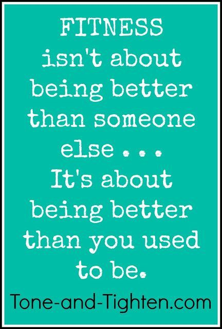 Monday Motivation: Fitness is about being a better YOU ...