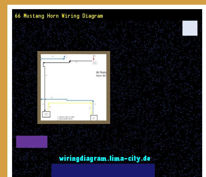 66 Mustang Horn Wiring Diagram  Wiring Diagram 175747