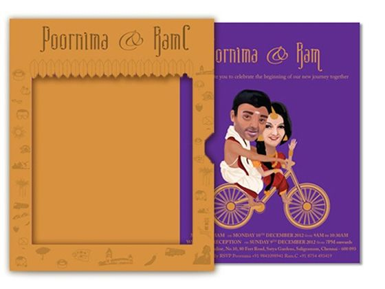 Beautiful and Creative Wedding Invitation Card Designs Art by