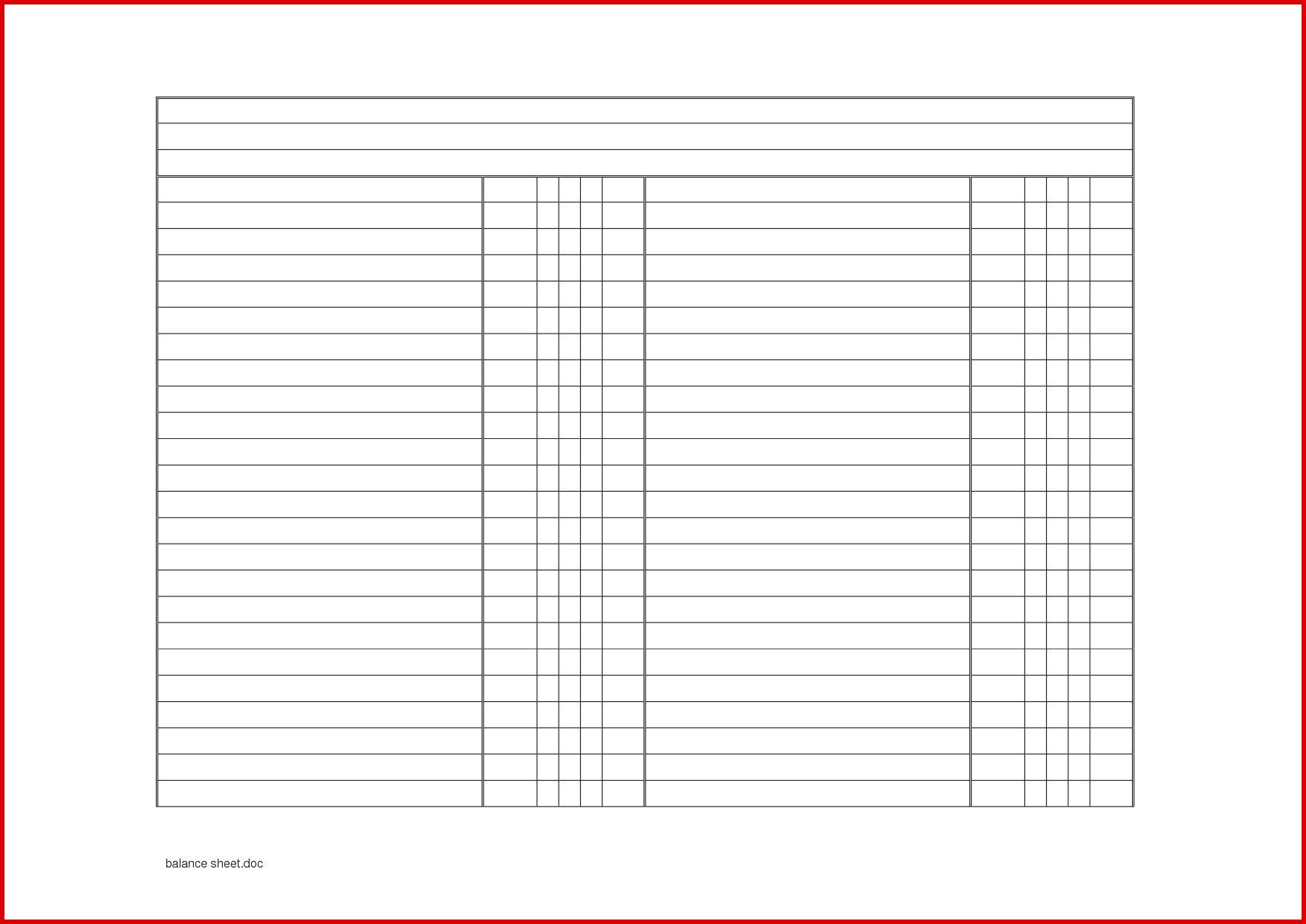 New Blank Balance Sheet Exceltemplate Xls Xlstemplate Xlsformat Excelformat Microsoftexce Balance Sheet Template Address Book Template Checklist Template