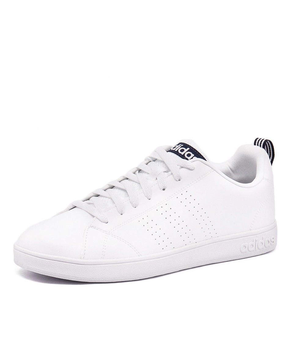adidas advantage vs lace up sports shoes white