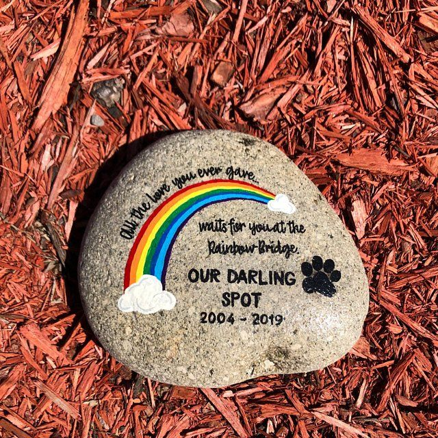 Unique Pet Memorial Gift. Outdoor Garden Stone. Dogs leave paw prints on our hearts forever. All Natural Commemorative Marker.