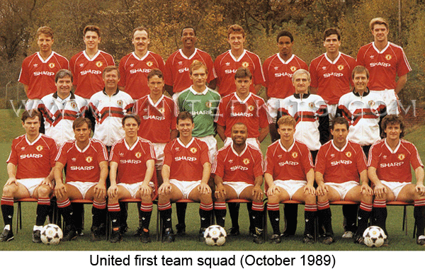 Manchester United 1989 90 Manchester United Team Manchester United Football Club Manchester United