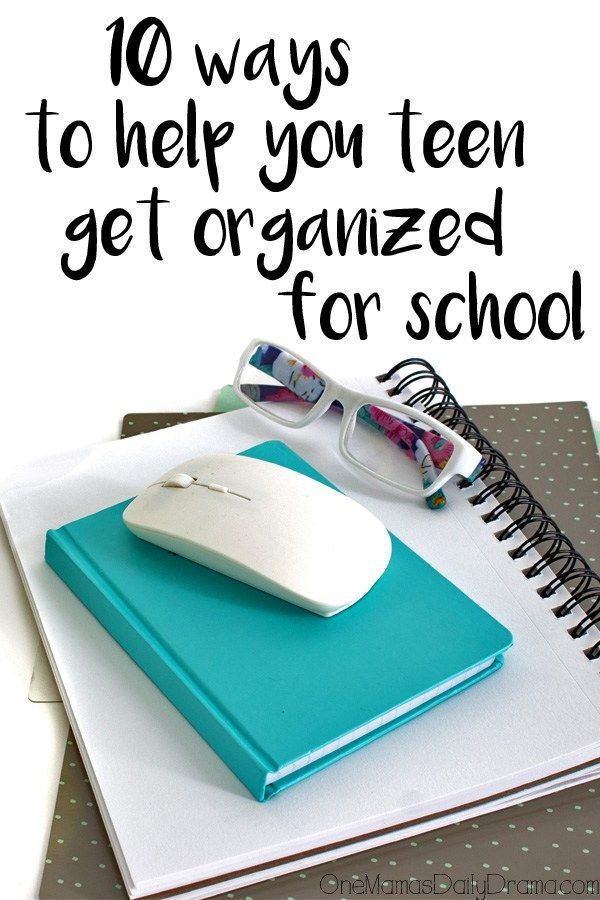10 ways to help your teen get organized for school is part of School Organization Printables - Her kids were struggling with organization, but then she did this!