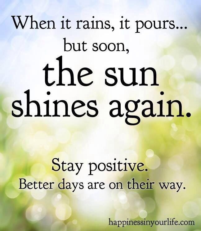 Always Stay Positive No Matter How Bad Things Get Cheer Up