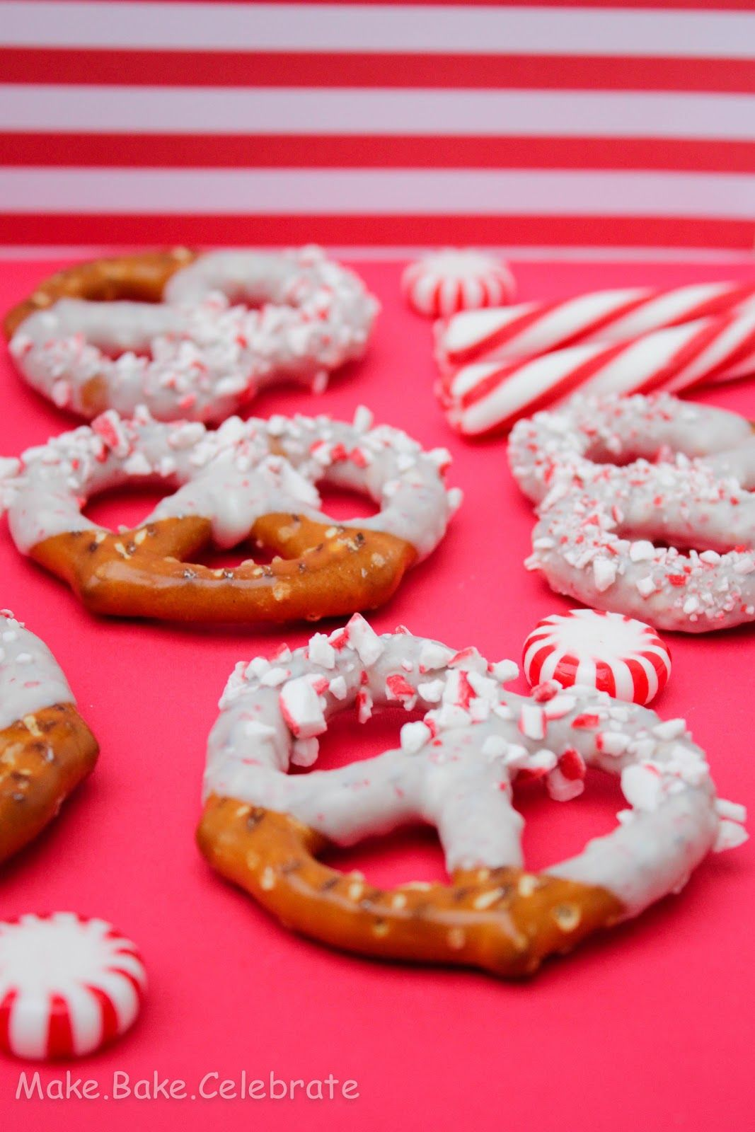 """""""Candy Cane Chocolate Covered Pretzels..."""""""
