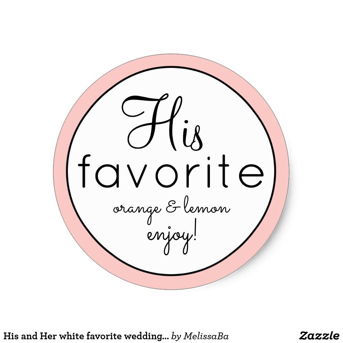 His and Her white favorite wedding favor stickers | Wedding: Favor ...
