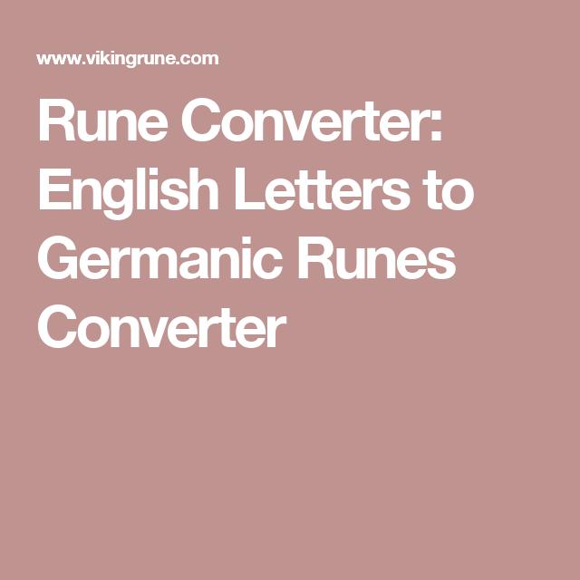 rune converter english letters to germanic runes converter