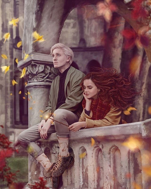 "Photo of The New Order of the Phoenix on Instagram: ""I don't ship Dramione but look at this … It's art ?? CherryQueenie ?. . . . . . . . . . . . . . . . . . . #HarryPotter #Harry # Potter … """