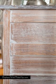 Whitewashing Furniture Is A Great Way To Revive An Old Piece Of Wooden Furniture While Keeping The Wood Grain