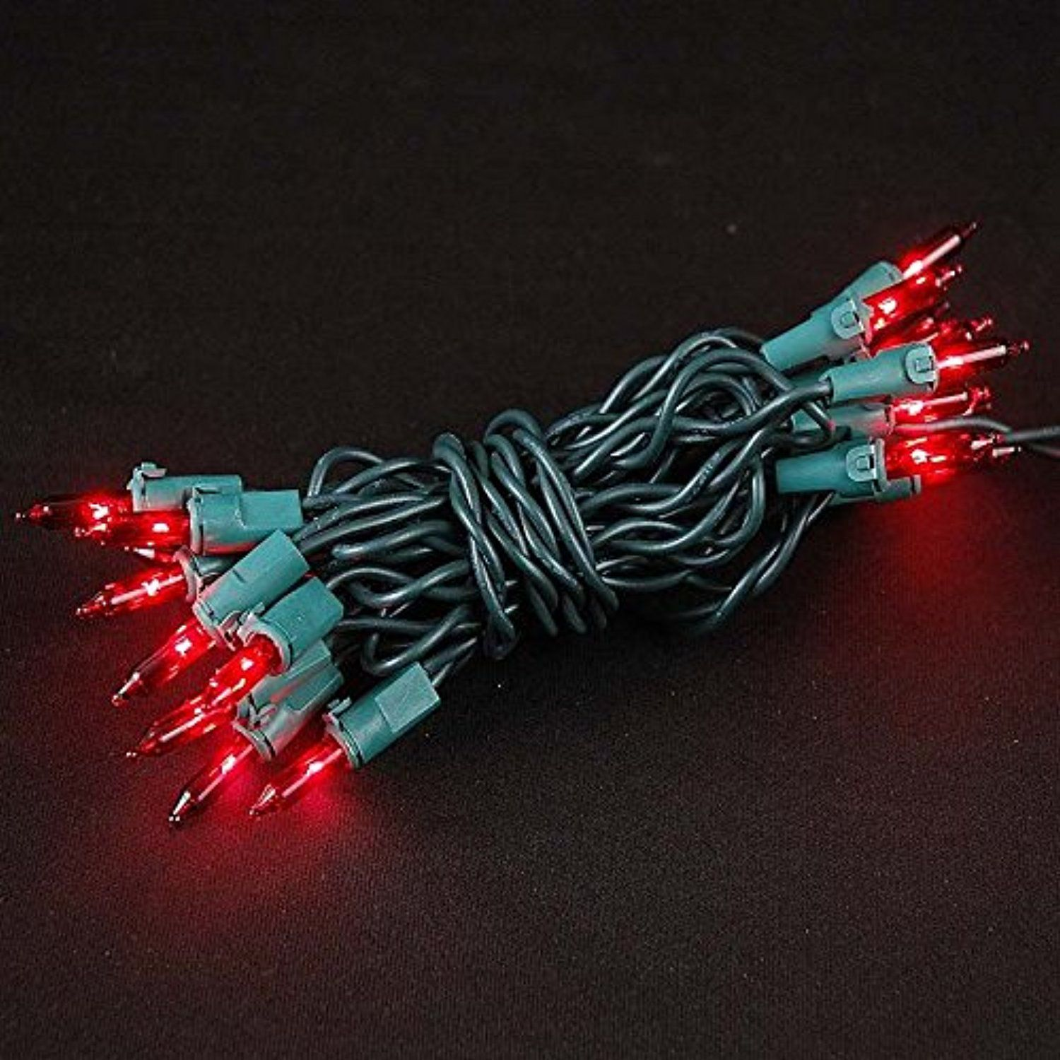 Novelty Lights 20 Light Red Christmas Craft Mini Set Non Connectable Green Wire 8 Long Be Sure To Check Out This Awesome Product