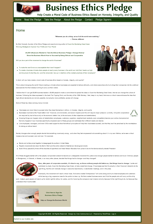 Business Ethics Pledge 3