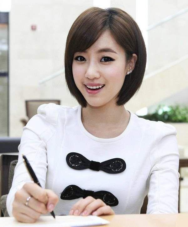 Korean Kurzes Frisur Frauen Koreanische Kurze Haare Frauen Frisuren Mit Pony Haar Styling