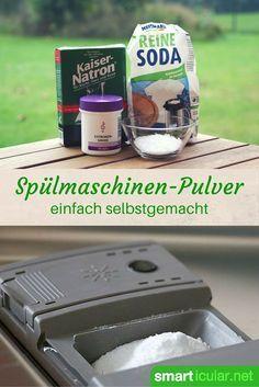 Pulver für die Spülmaschine preiswert selbst herstellen