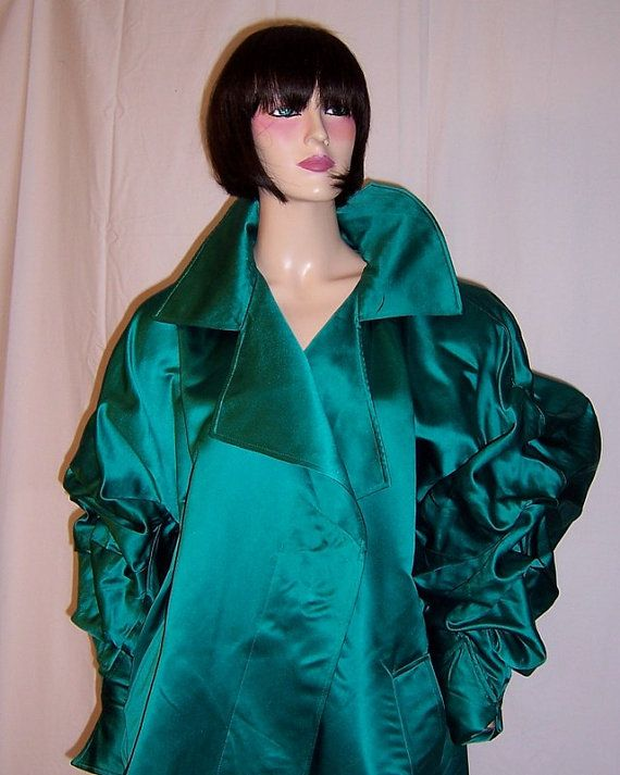 Claude Montana-Viridian Green Silk Coat by PatriciaJon on Etsy