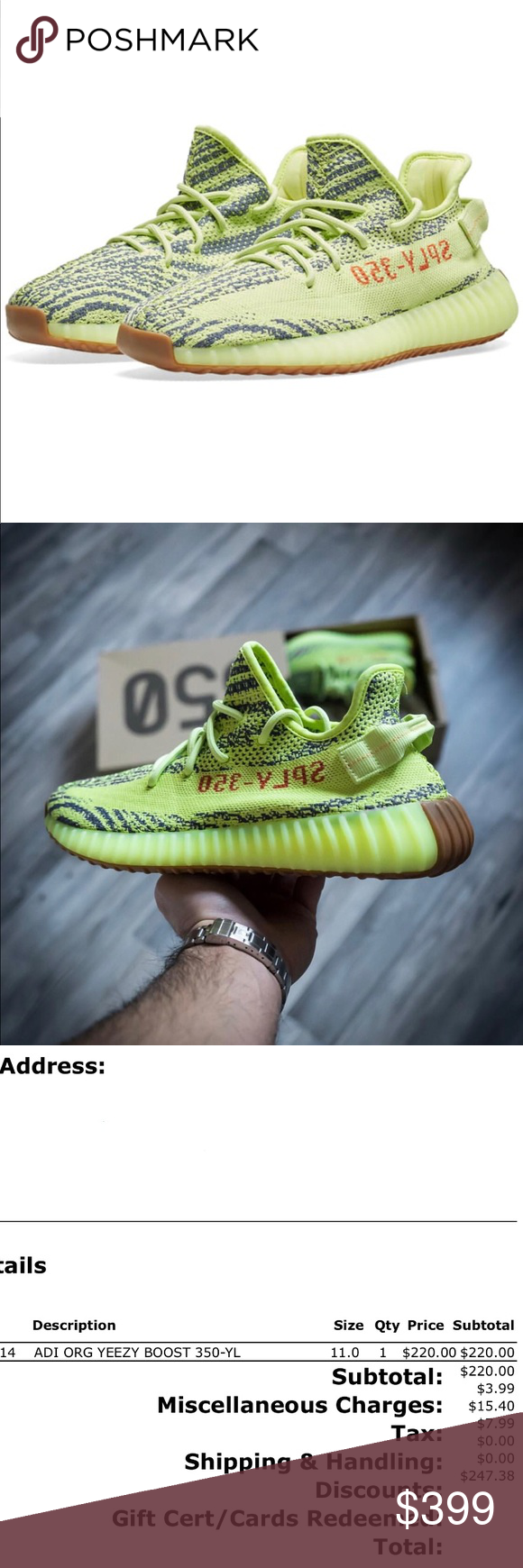 """87c17dd8d adidas YEEZY Boost 350 v2 """"Semi Frozen Yellow"""" Sold out in stores. Release"""