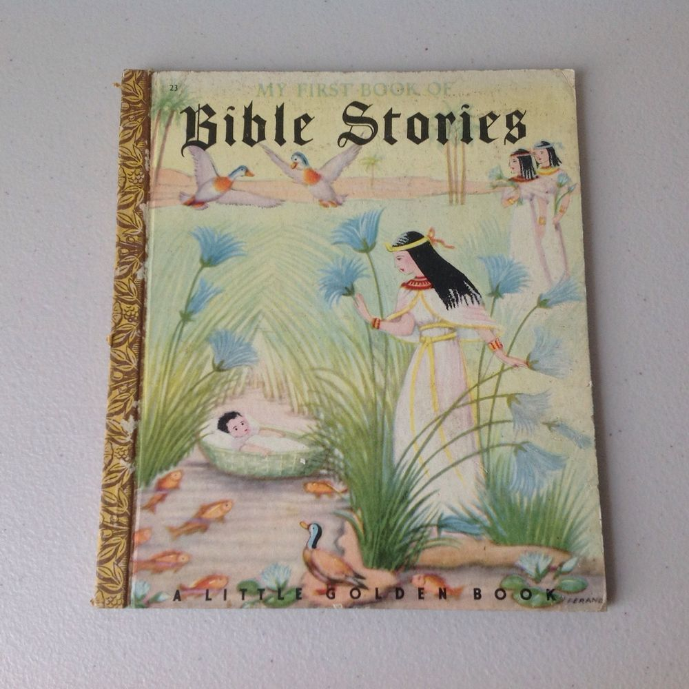 Vintage Little Golden Book ~ My First Book Of Bible Stories ...