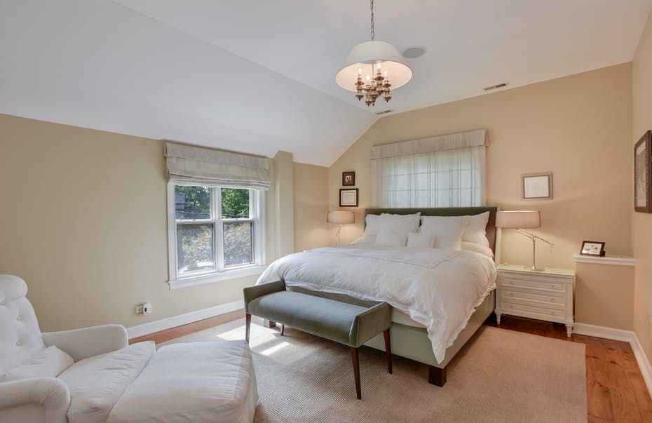 Lincoln Park Vintage Bedroom With Custom Roman Shades And White Beauteous Vintage Inspired Bedroom Furniture Property