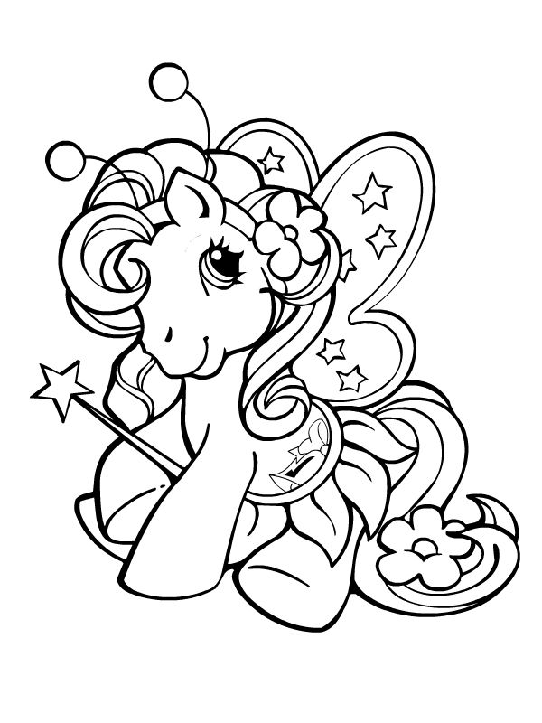 My little pony mon petit poney coloring for kids pinterest - Coloriage petit poney ...