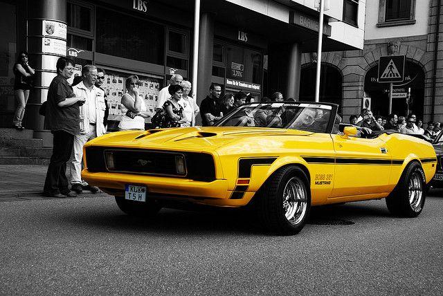 Mustang Boss 351 Yellow