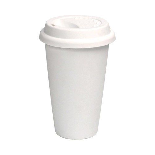 100 Paper Coffee Cup Disposable Hot Cup 10 Oz White With