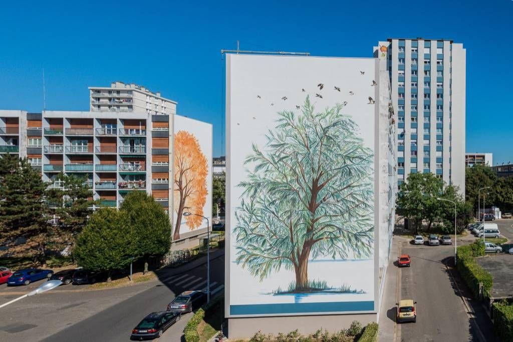 Les bords de loire design mural monumental du sanitas tours citécréation