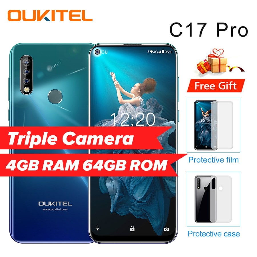 """OUKITEL C17 Pro 6.35""""19:9 Android 9.0 Mobile Phone Octa ..."""