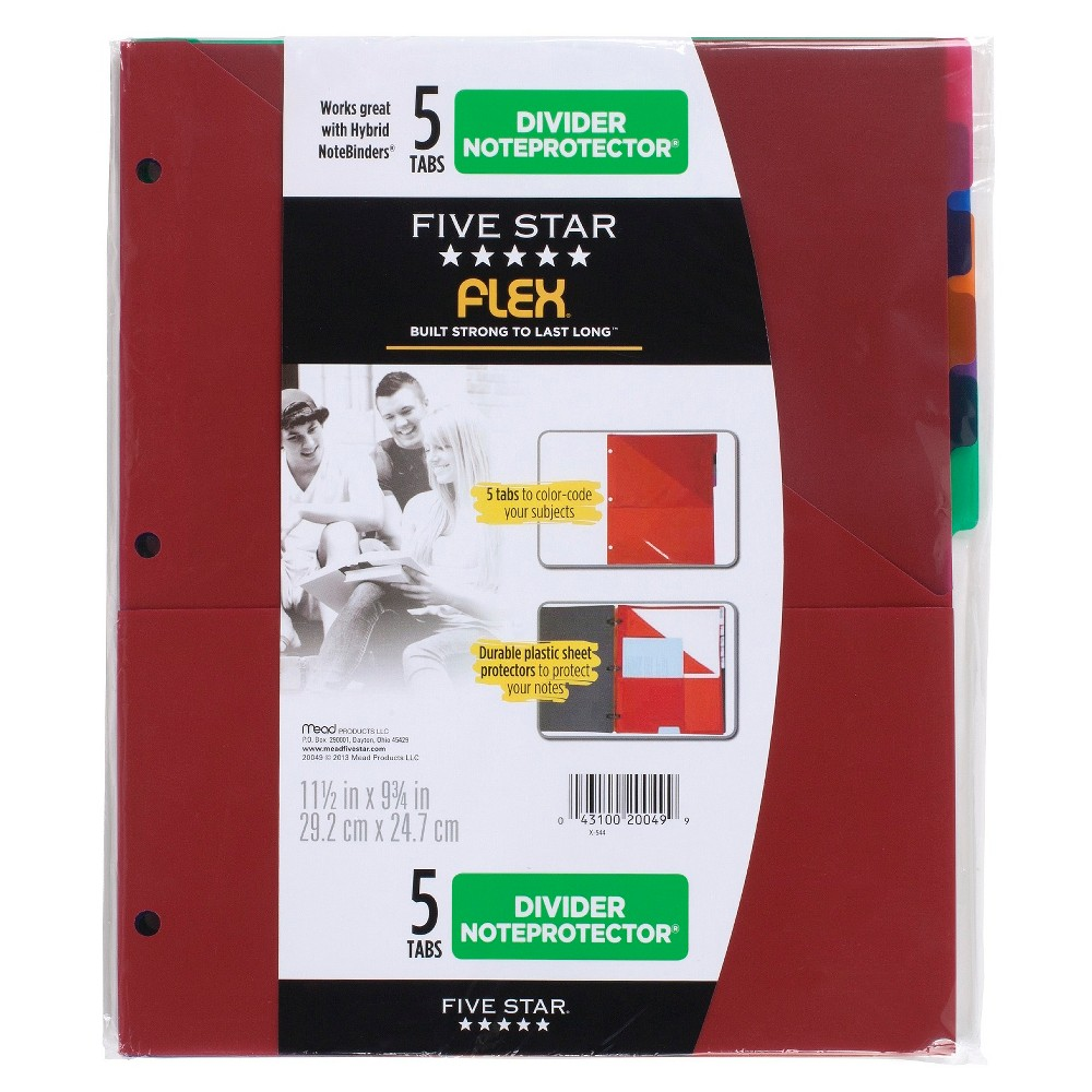 Mead Five Star Folder Binder Insert, 5 Tabs