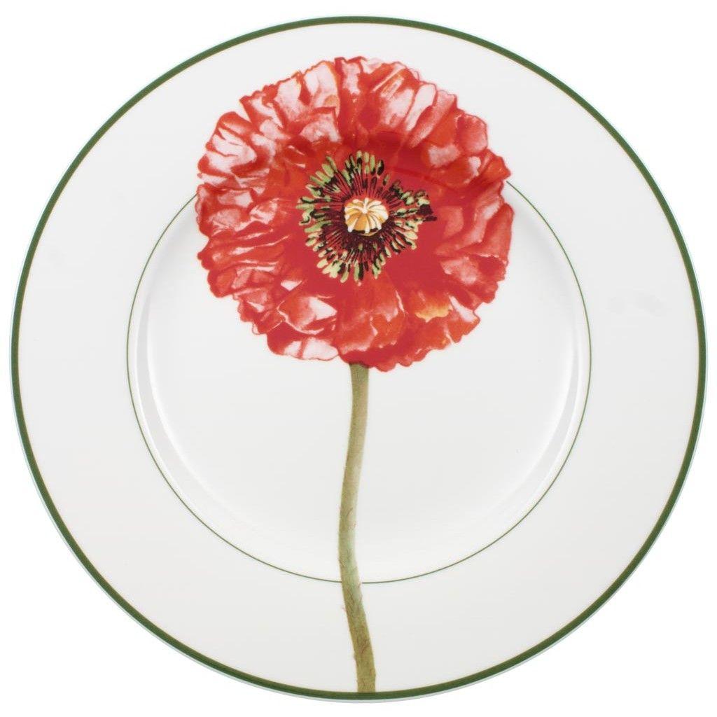 red #poppy dinner plate | Flora collection | ładne - pretty ...