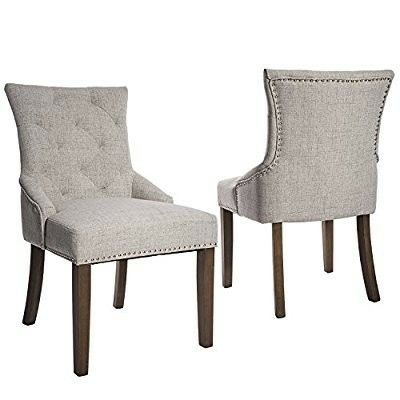 300lbs Weight Capacity Dining Chair Upholstered Dining Chairs Fabric Dining Chairs Upholstered Side Chair