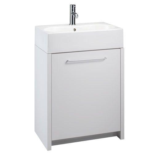 Openspace 500 Basin Unit White Gloss Basin Unit Bathroom Furniture Modern Vanity Units