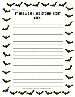 halloween writing prompt students create a story using the prompt it was a dark - Halloween Stories Kids