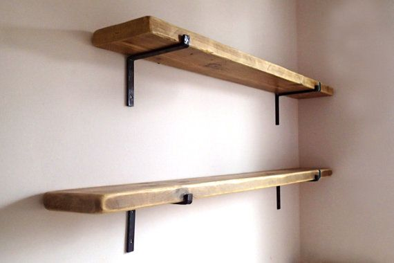 Reclaimed Wood Shelves With 2 Iron Brackets Included Wood Shelf Brackets Special Offer Made In Italy Wood Shelves Bedroom Wood Shelf Brackets Wood Shelves