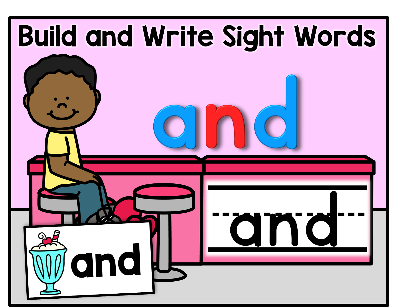 Build And Write Sight Words Editable