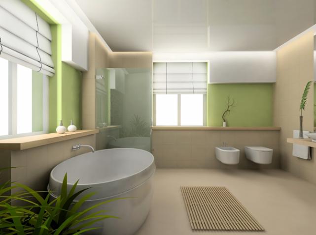 Beautiful Salle De Bain Taupe Et Vert Ideas - Amazing House Design ...
