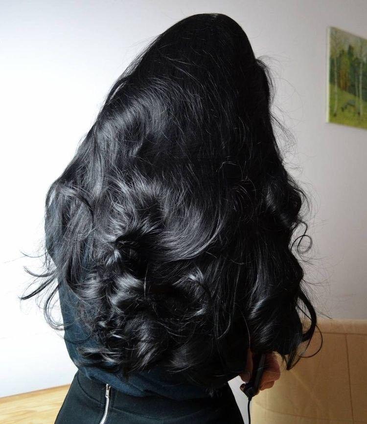 Photo of black wavy hair