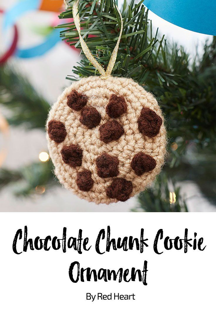 Chocolate Chunk Cookie Ornament free crochet pattern in Super Saver ...