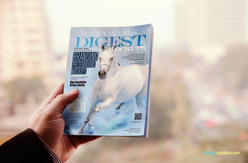 12 Brilliant Digest Size Magazine Mockups For Download Mockup