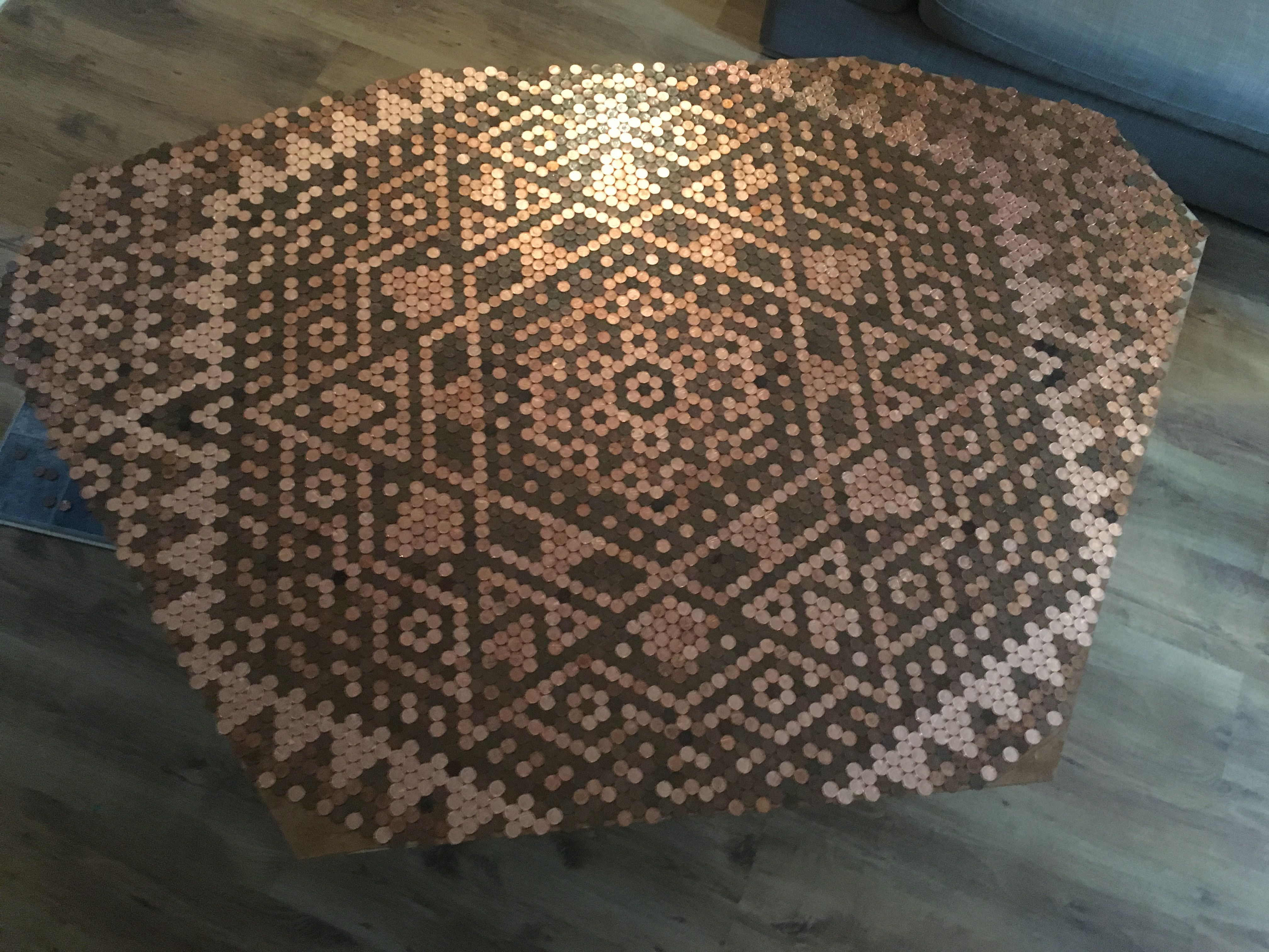 Fußboden Aus Pennys ~ Penny table design by @hugart for the home pinterest penny
