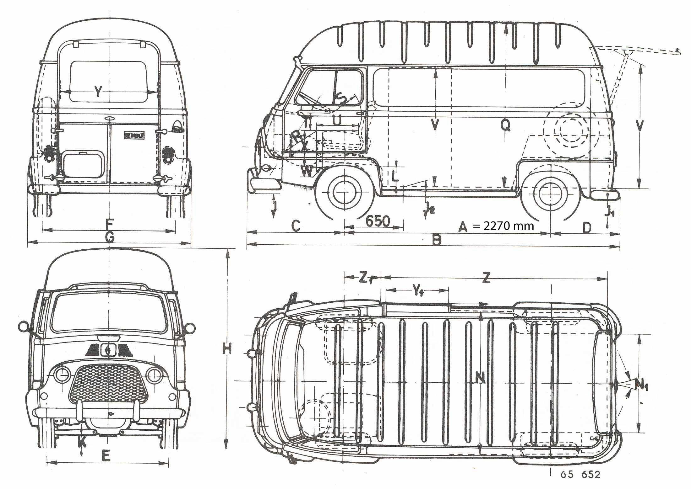 Renault Estafette Blueprint
